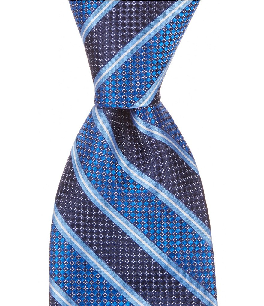 Cremieux Point Stripe Traditional Silk Tie