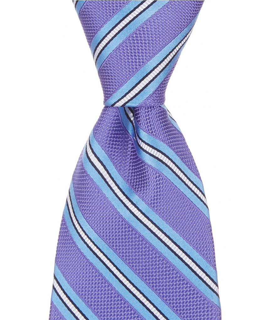 Cremieux Party Stripe Traditional Silk Tie