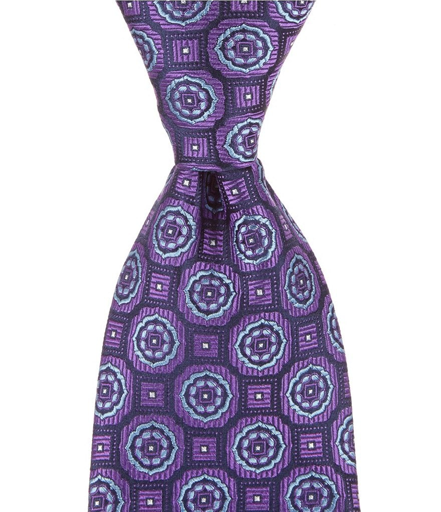 Cremieux Rolling Medallion Traditional Silk Tie