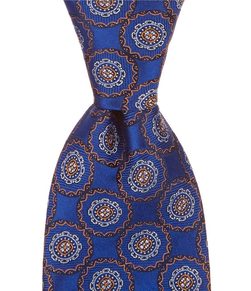 Cremieux Circled Medallion Traditional Silk Tie