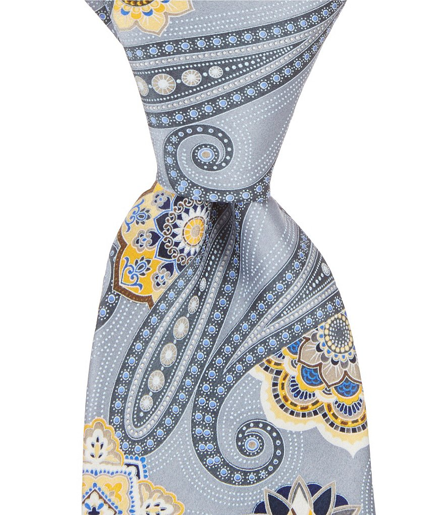 Murano Pacific Paisley Traditional Silk Tie