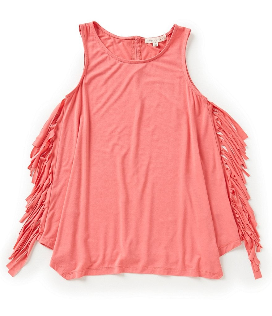 Copper Key Big Girls 7-16 Fringe Detail Tank
