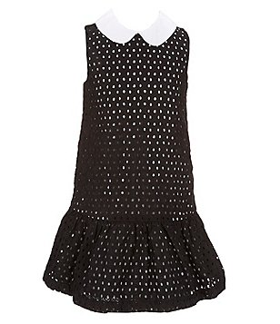 kate spade new york Big Girls 7-14 Black Eyelet Dress