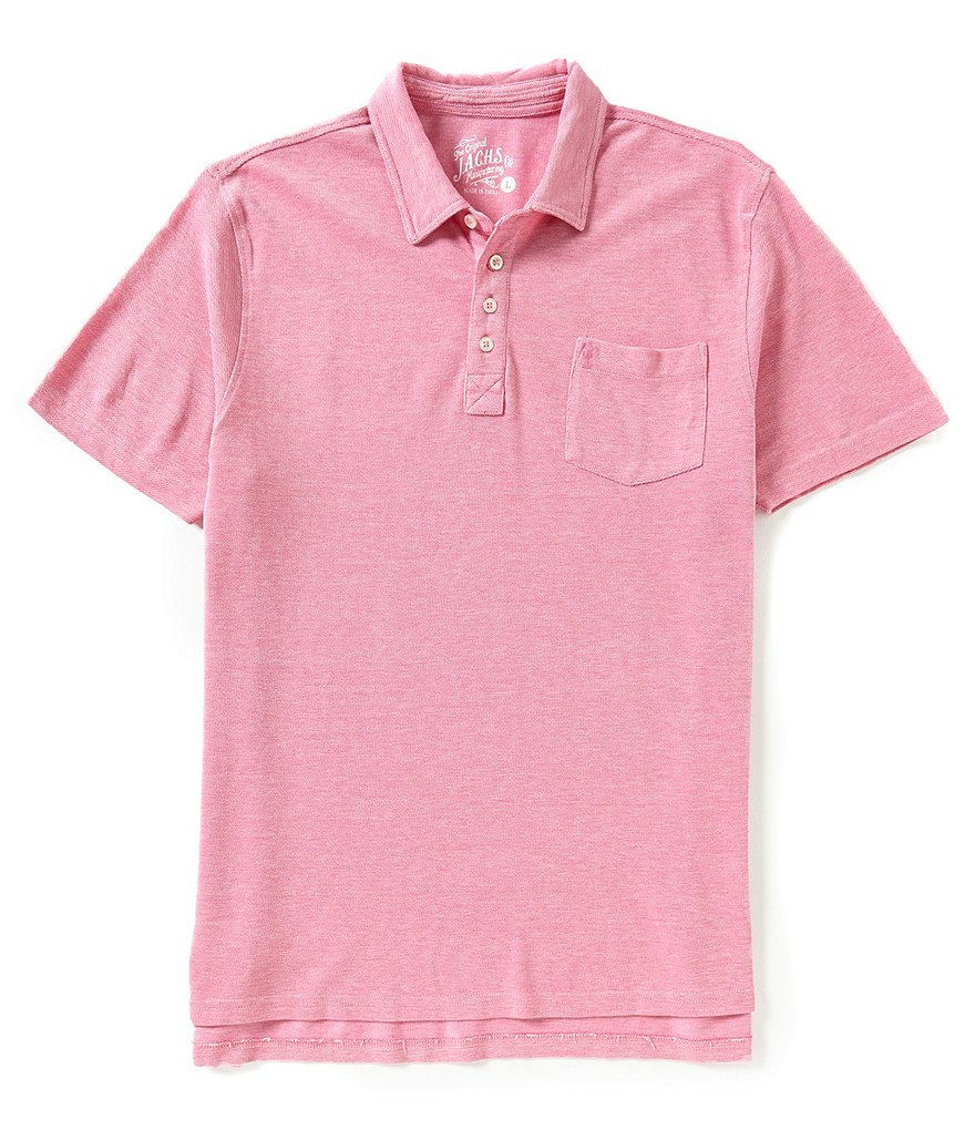J.A.C.H.S. Manufacturing Co. Collared Pique Polo Shirt