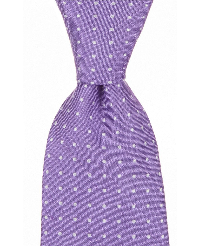 Roundtree & Yorke Trademark Soft Dotted Narrow Tie
