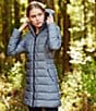 Color:Medium Grey Heather - Image 2 - The North Face Gotham Mock Neck Down-Fill Water-Repellent Quilted Parka