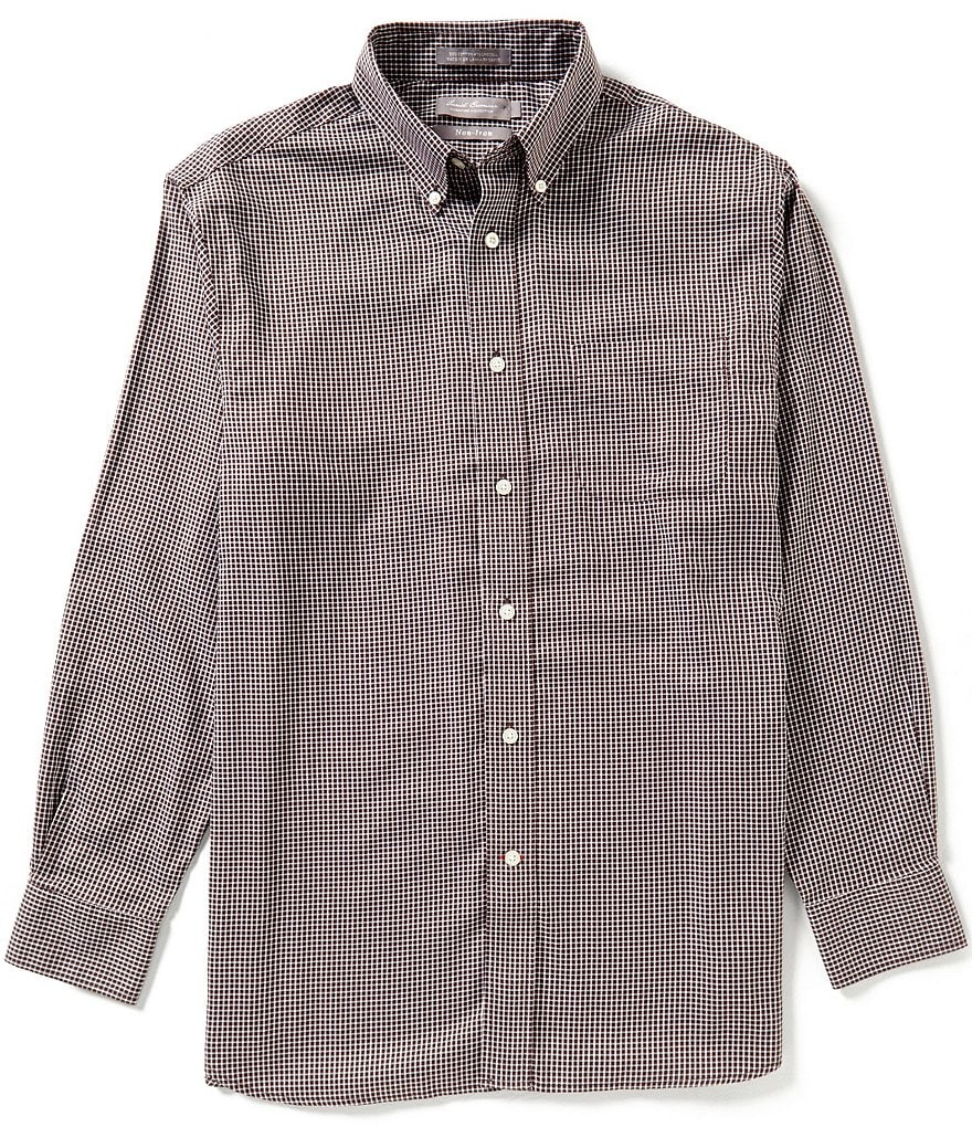 Daniel Cremieux Signature Long-Sleeve Non-Iron Plaid Woven Shirt