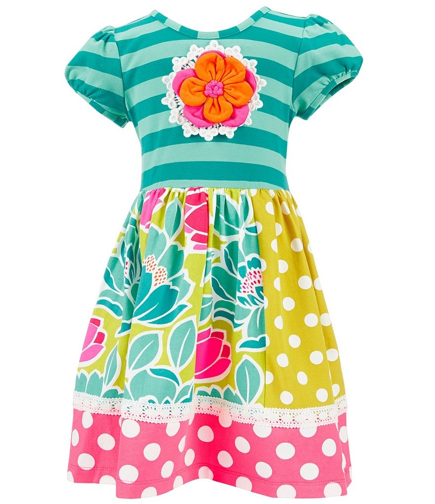Counting Daisies Little Girls 2T-6X Floral Trim Dress