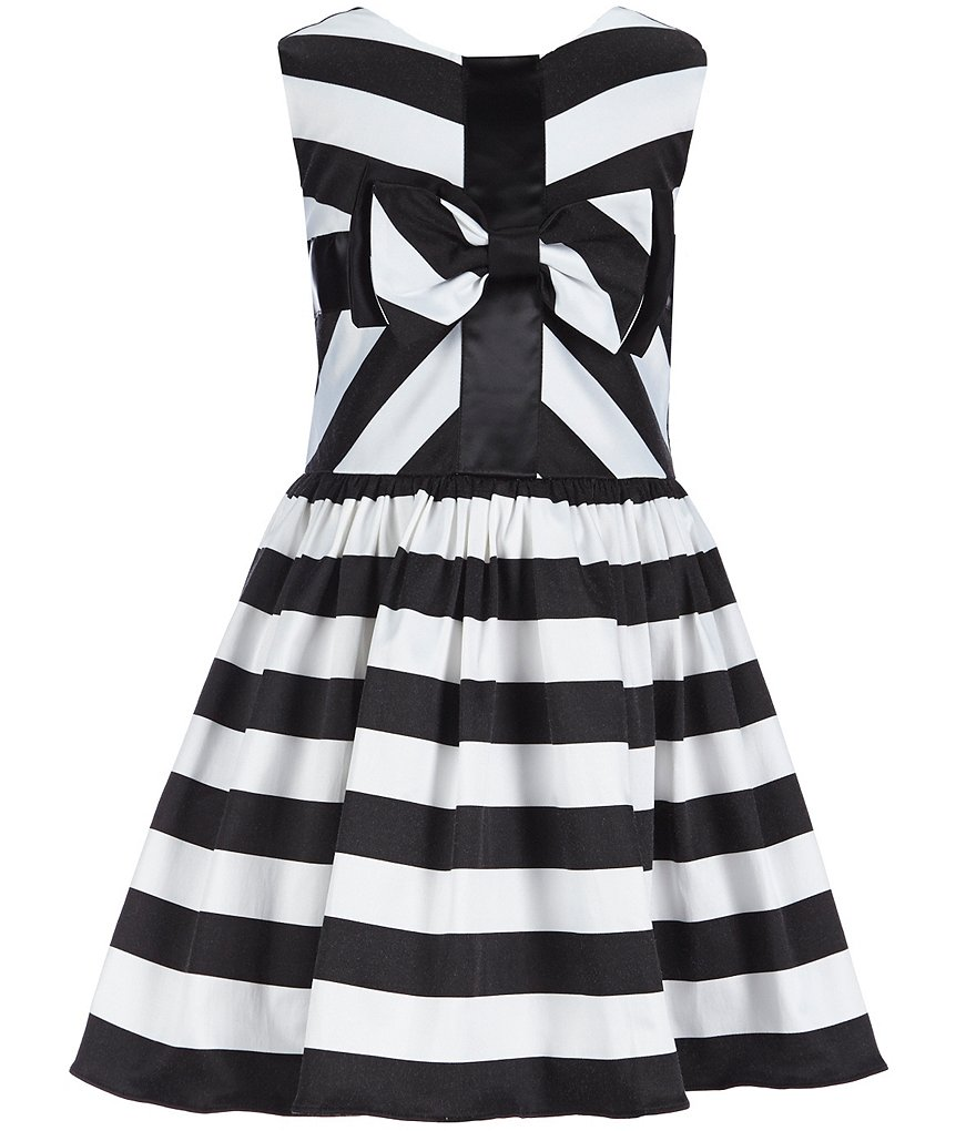 Rare Editions Little Girls 2T-6X Striped Bow Dress