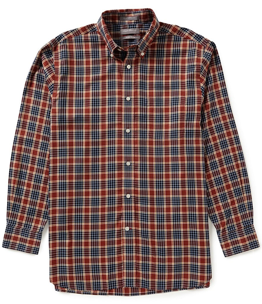 Daniel Cremieux Signature Non-Iron Long Sleeve Button Down Plaid Shirt