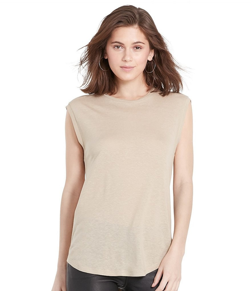 Polo Ralph Lauren Back-Keyhole Sleeveless Tee