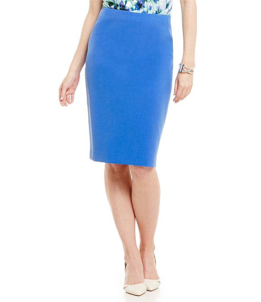 Kasper Petite Stretch Crepe Skirt