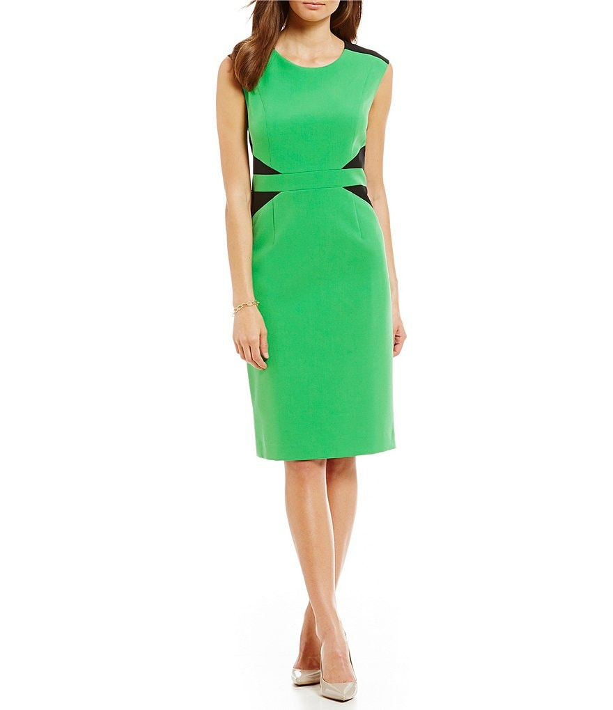 Kasper Petite Julia Stretch Crepe Dress