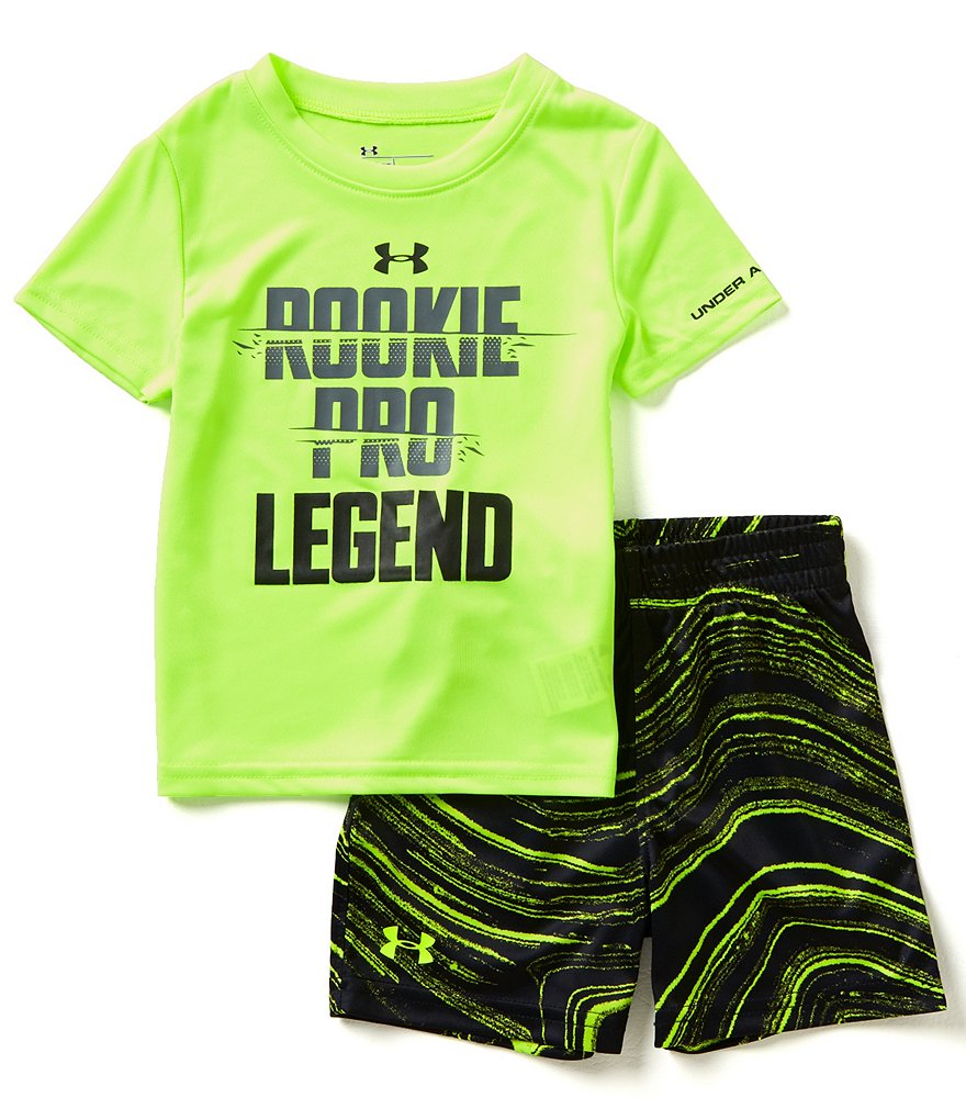 Under Armour Baby Boys 12-24 Months Rookie Pro Legend Short-Sleeve Tee And Printed Shorts Set