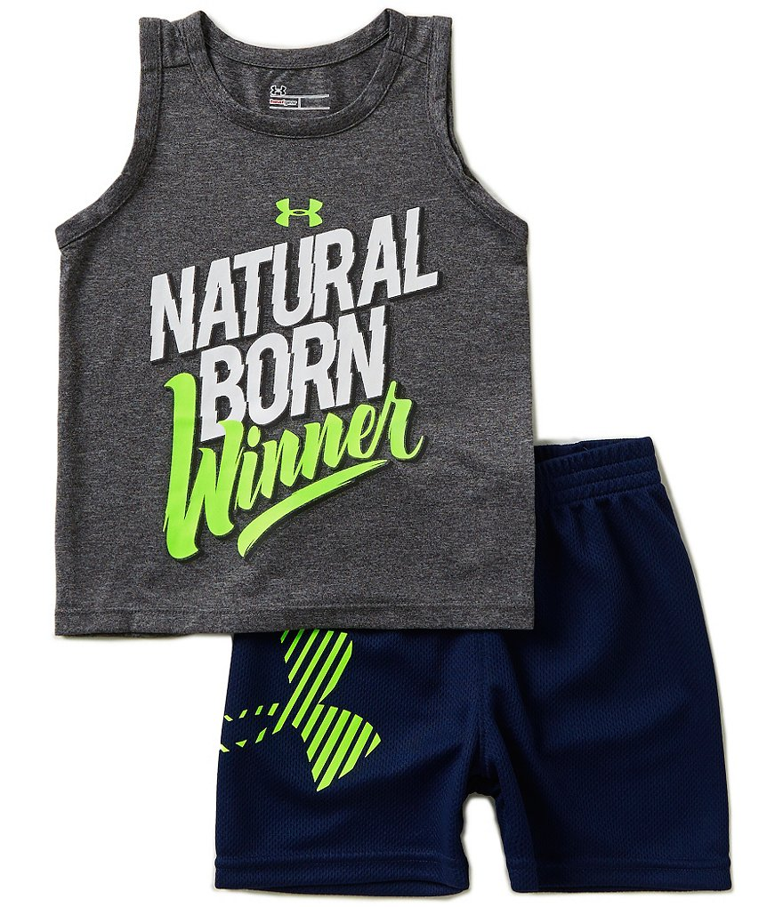 Under Armour Baby Boys 12-24 Months Natural Born Winner Tank and Shorts Set