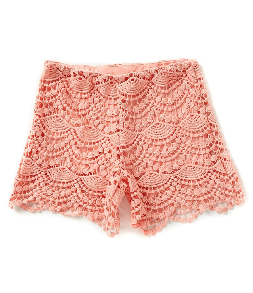 GB Girls Big Girls 7-16 Crochet Shorts