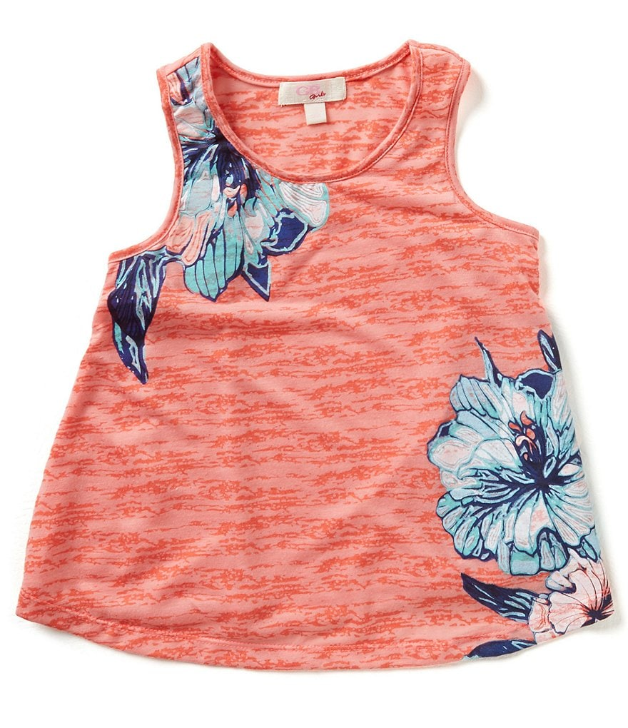 GB Girls Big Girls 7-16 Burnout Flower Tank