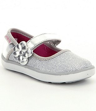 Stride Rite Girls´ Marleigh Glitter Fabric Hook-and-Loop Mary Janes