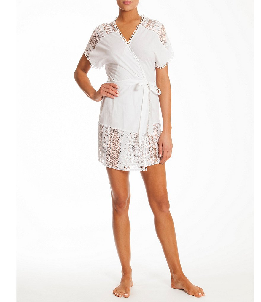 In Bloom by Jonquil Crochet Lace-Trimmed Robe