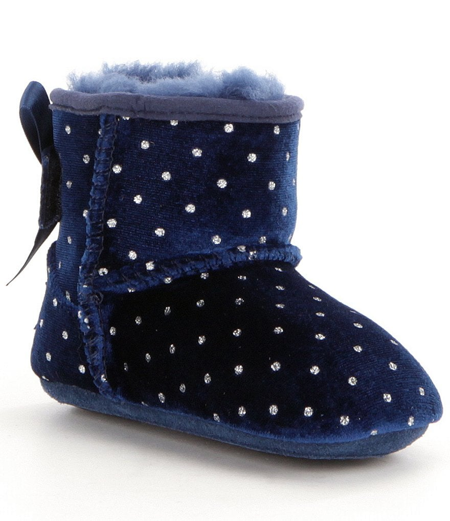 UGG® Girls´ Jesse Bow Starlight Velvet Glitter Dot Slip-On Crib Shoes