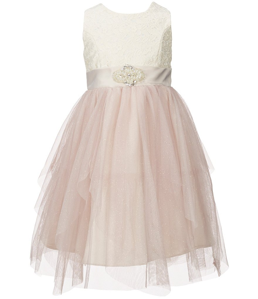 Jayne Copeland Little Girls 2T-6X Tulle Lace Dress