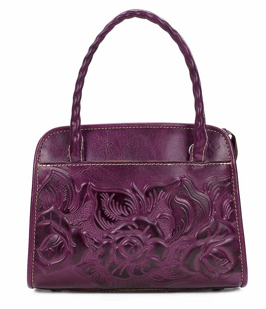 Patricia Nash Paris Floral Embossed Satchel