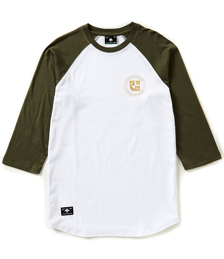 LRG Clothing And Equipment Color Block Raglan-Sleeve Tee