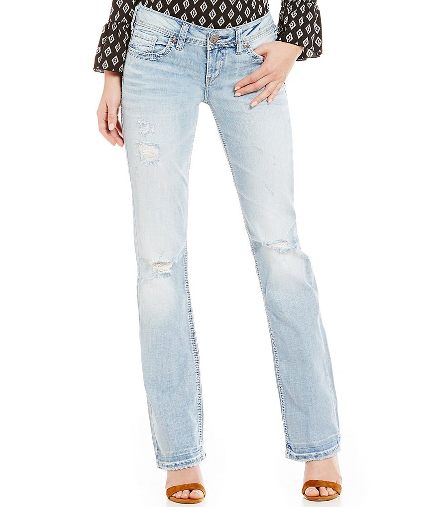 Silver Jeans Co. Aiko Distressed Bootcut Jeans