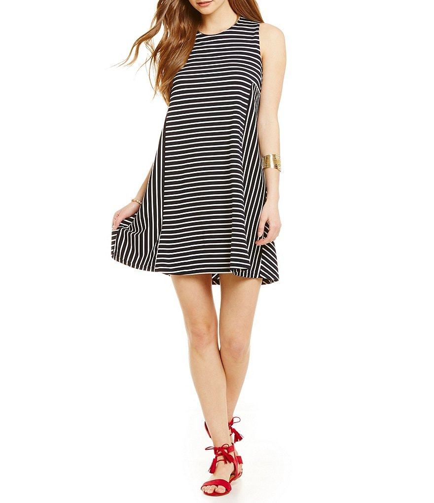 Copper Key Striped Ponte Dress