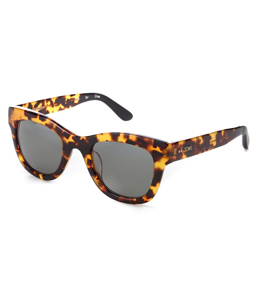 TOMS Chelsea Hand Finished Gradient Cat-Eye Sunglasses