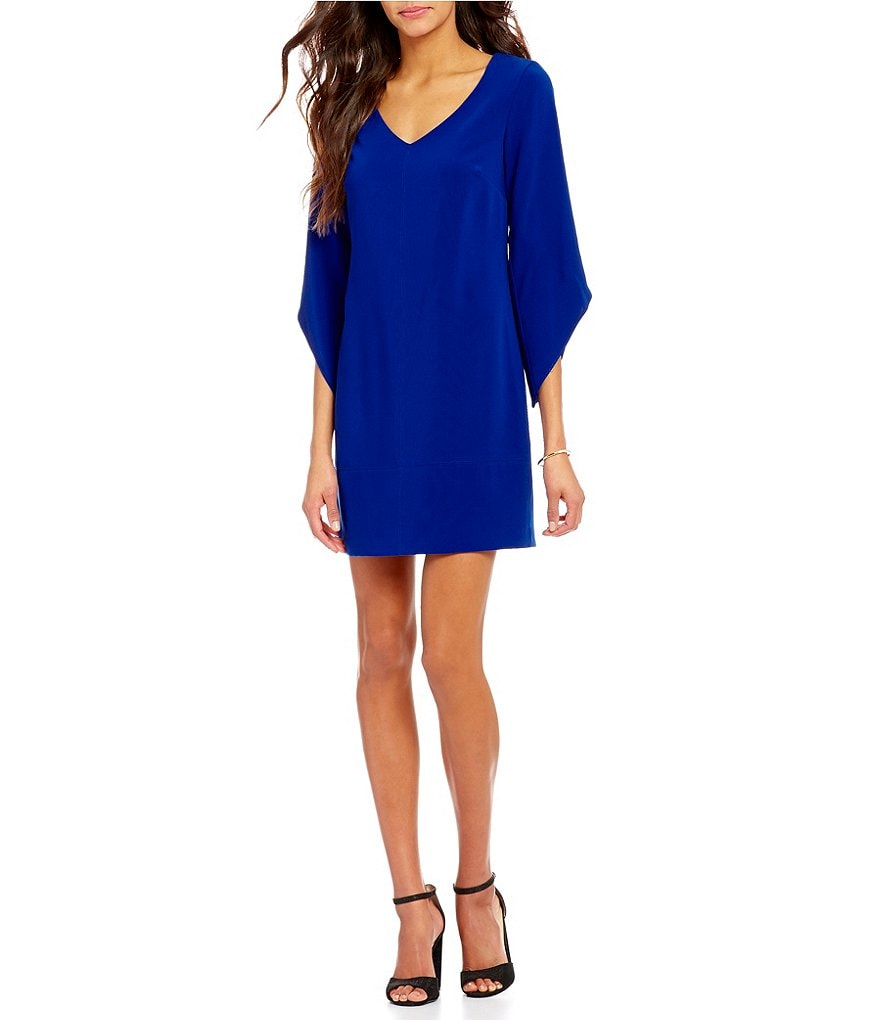 Laundry by Shelli Segal T-Body Tulip Sleeve Dress