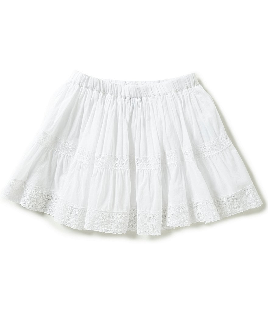 Ralph Lauren Childrenswear Big Girls 7-16 Lace-Trimmed Skirt