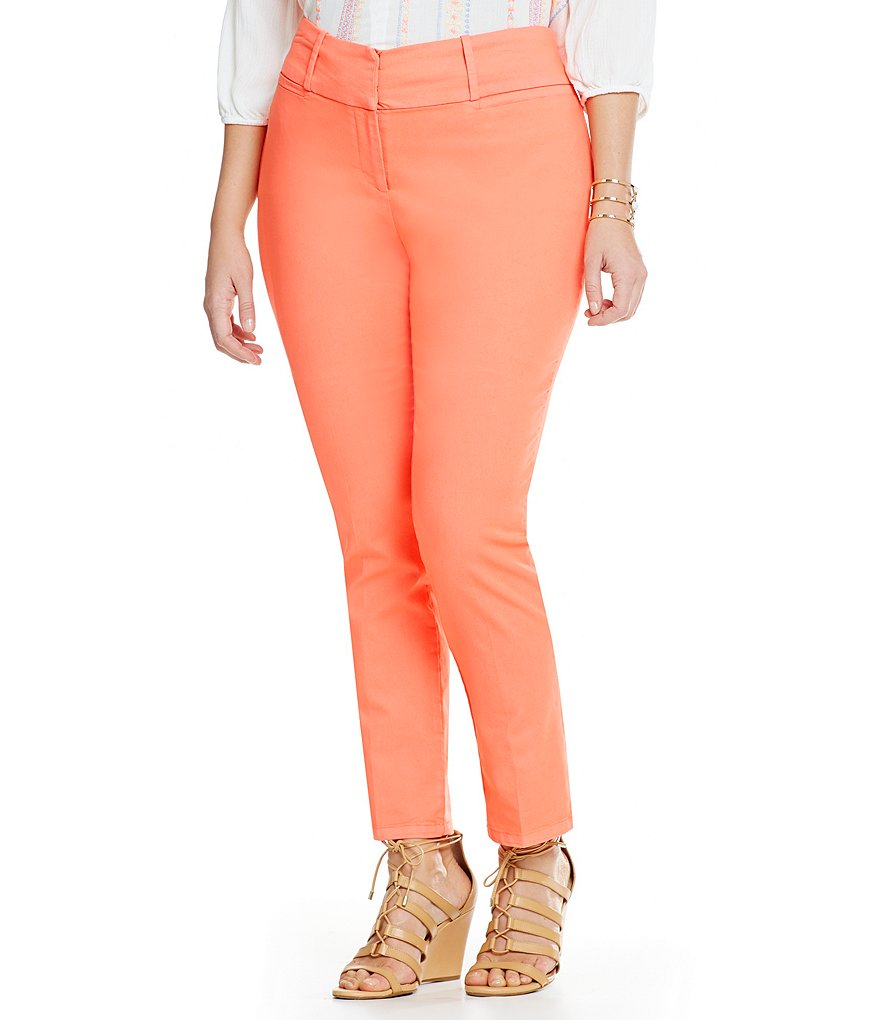 Gibson & Latimer Plus Coral Slim Leg Pants