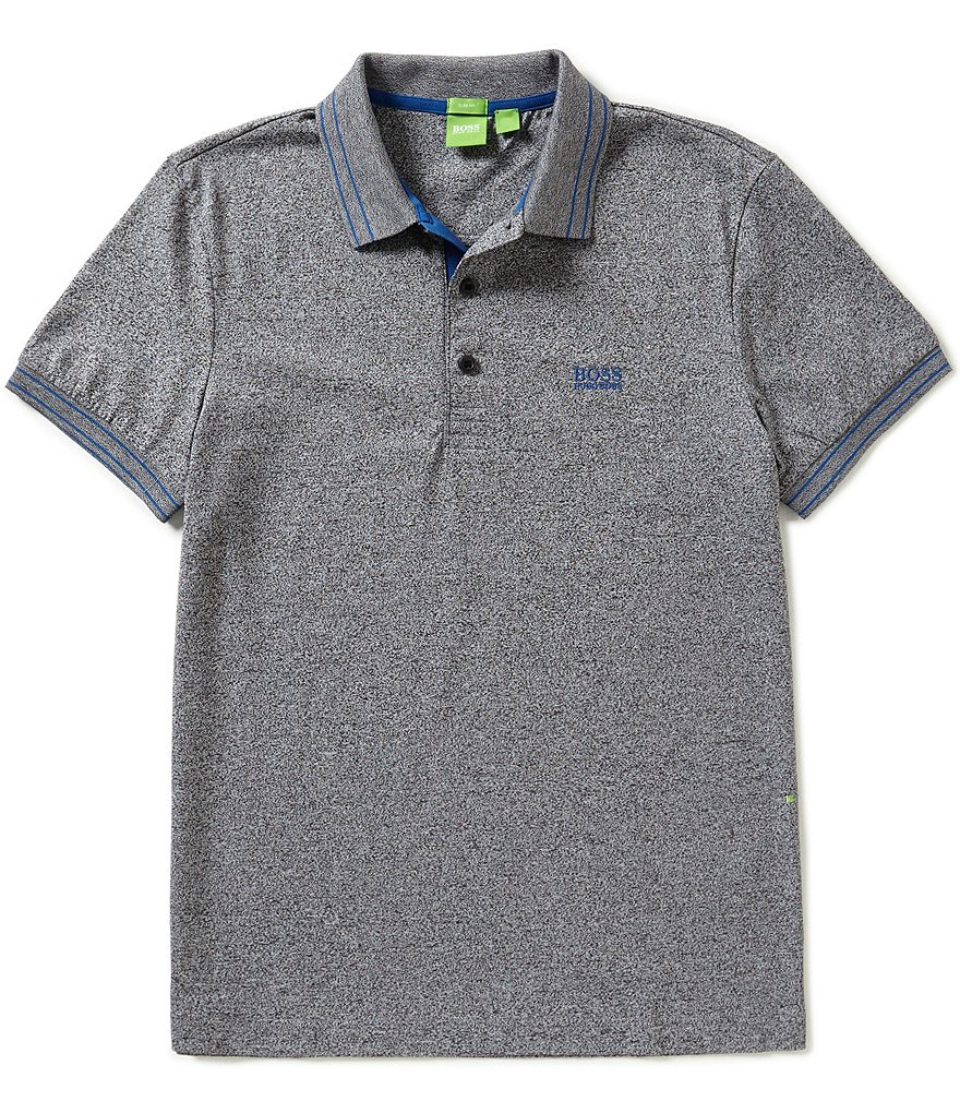 BOSS Green Slim Fit Paule Tipped Cotton Short Sleeve Polo Shirt
