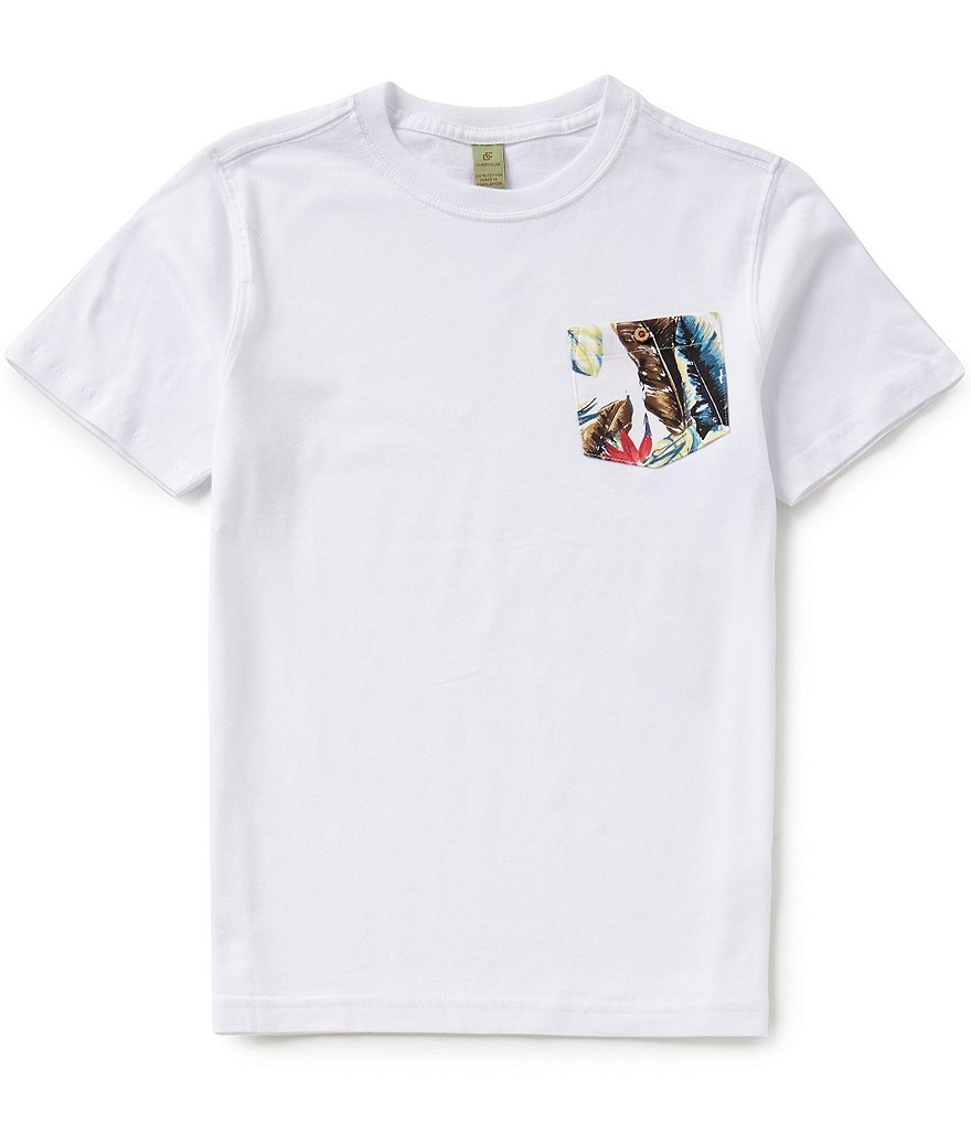 Class Club Big Boys 8-20 Tropical Pocket Tee