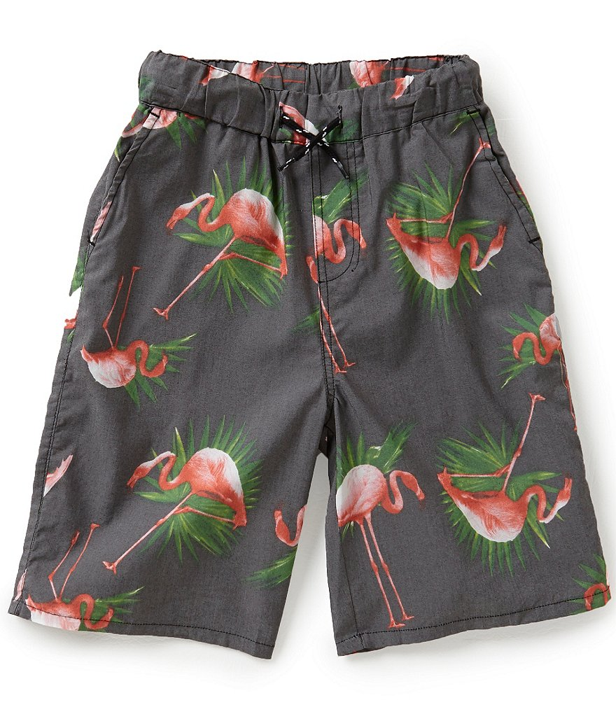 First Wave Big Boys 8-20 Flamingo Print Shorts
