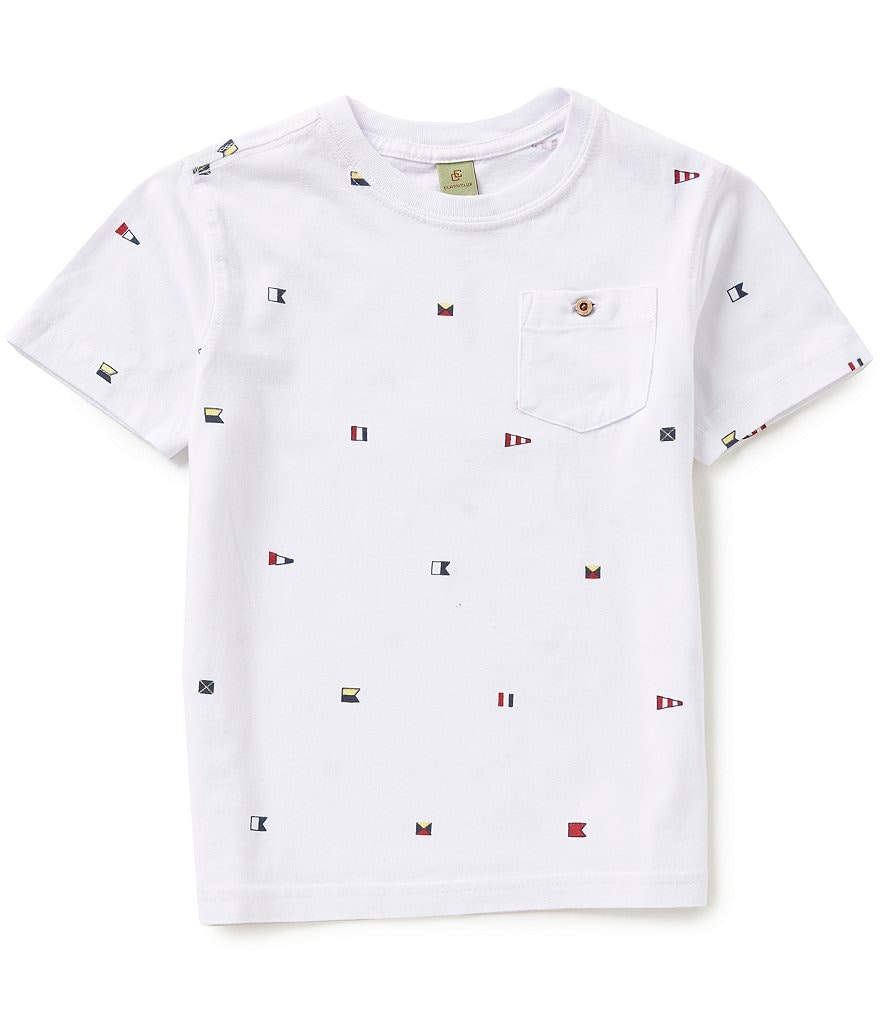 Class Club Little Boys 2T-7 Flag Graphic Tee