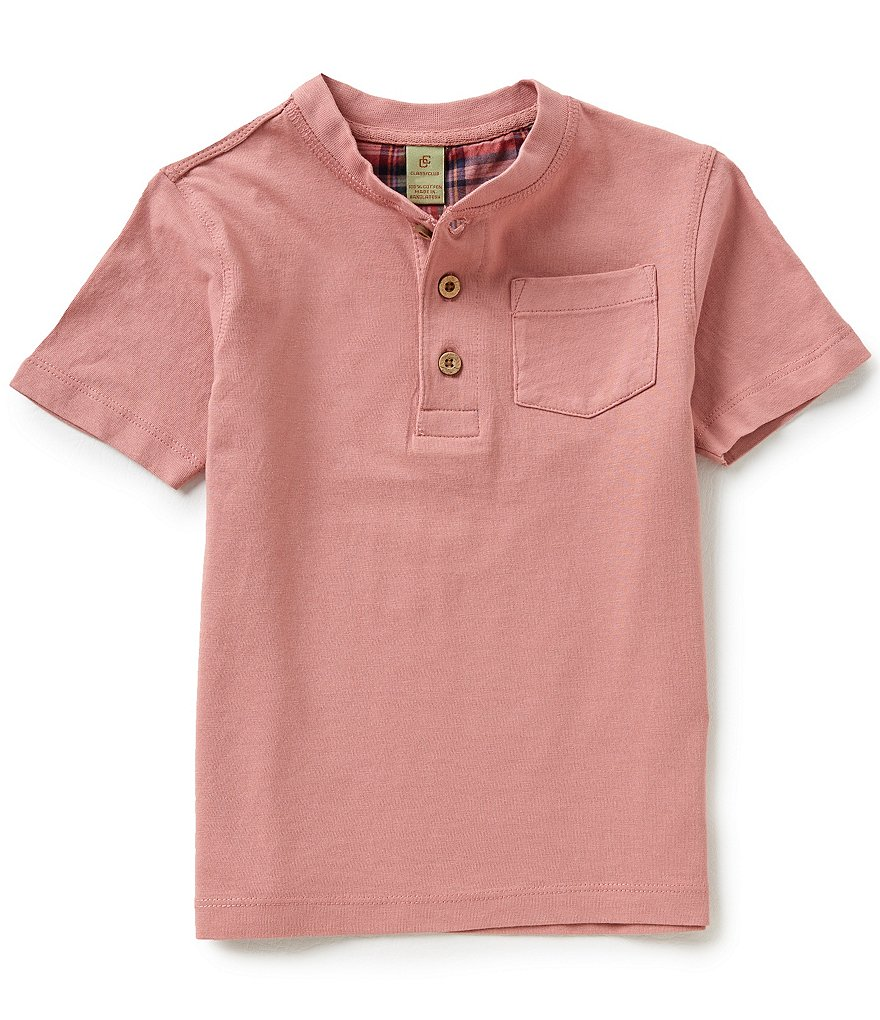 Class Club Little Boys 2T-7 Tropical Henley Tee