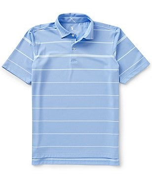 Fairway & Greene Carter Stripe Short-Sleeve Tech Pique Polo Shirt