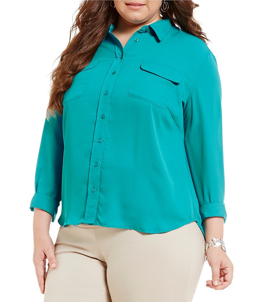 Investments Plus Long-Sleeve Utility Blouse