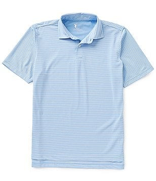 Fairway & Greene Kennedy Horizontal Striped Tech Piqué Polo Shirt