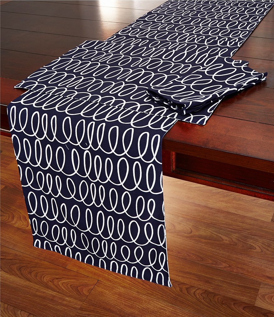 kate spade new york In the Loop Reversible Cotton Table Linens