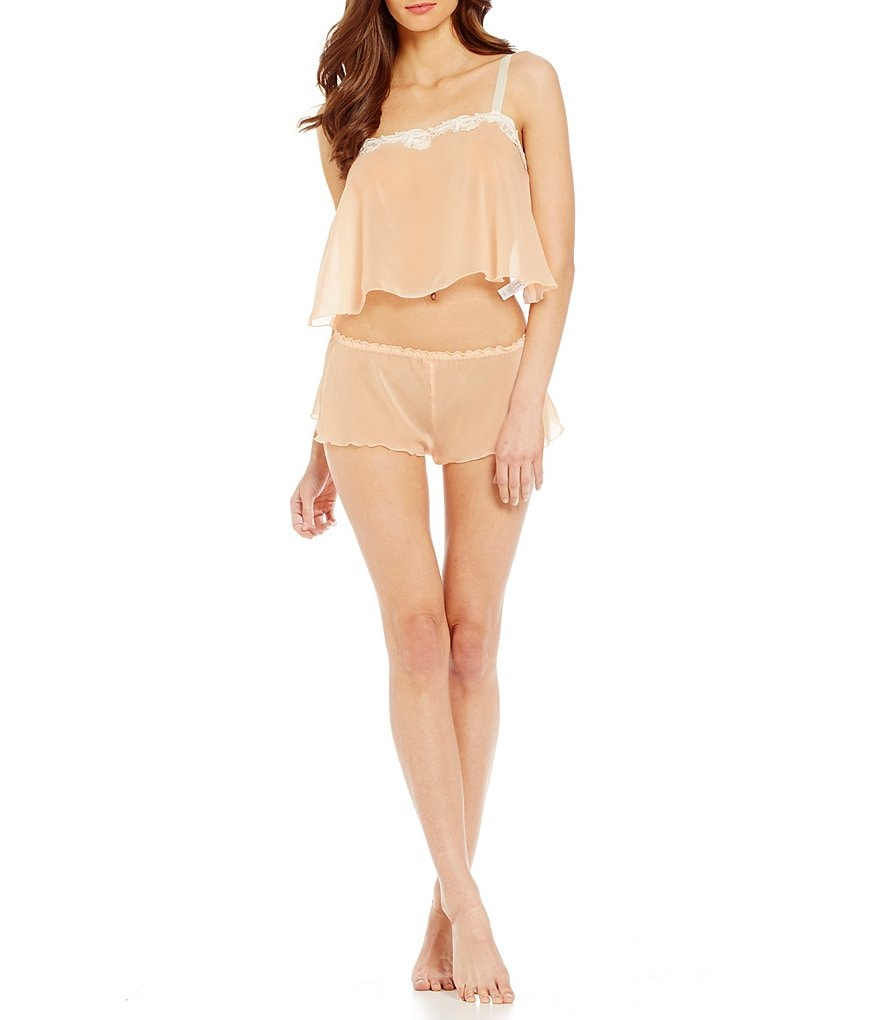 Hanky Panky Chiffon Crop Camisole and Shorts Set
