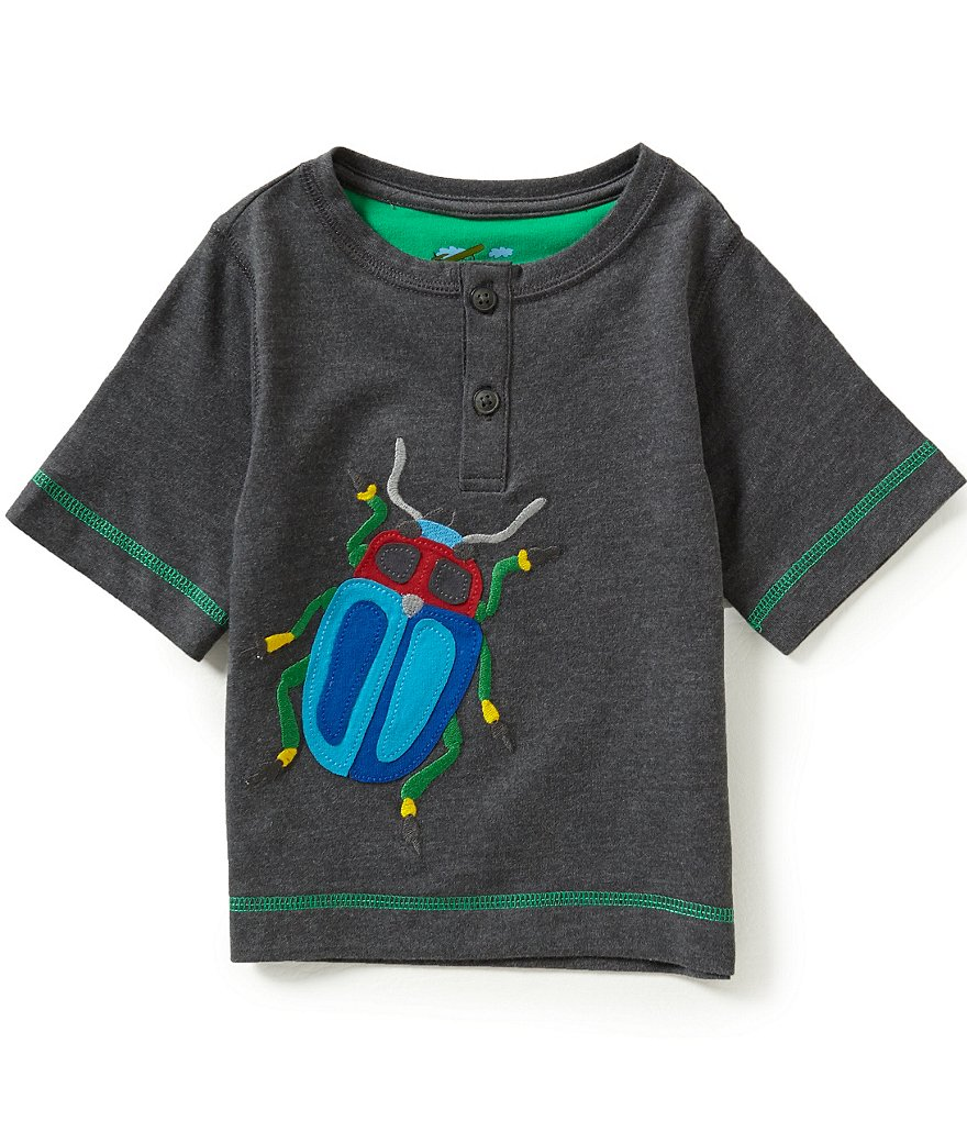Adventure Wear by Class Club Little Boys 2T-5 Bug Graphic Henley