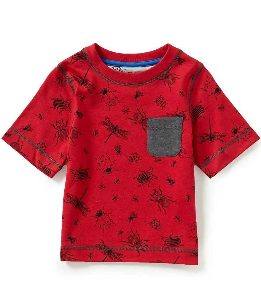 Adventure Wear by Class Club Little Boys 2T-5 Bug Print Short-Sleeve Pocket Graphic Tee