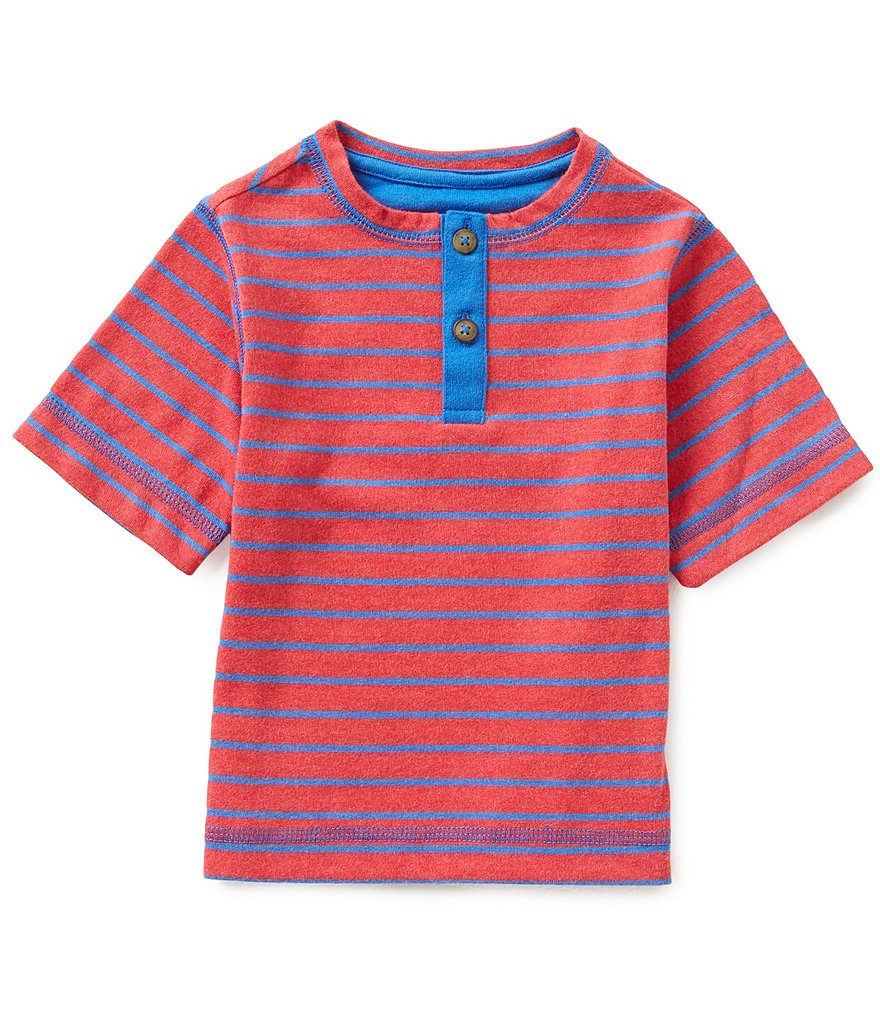 Adventure Wear by Class Club Little Boys 2T-5 Striped Henley Tee