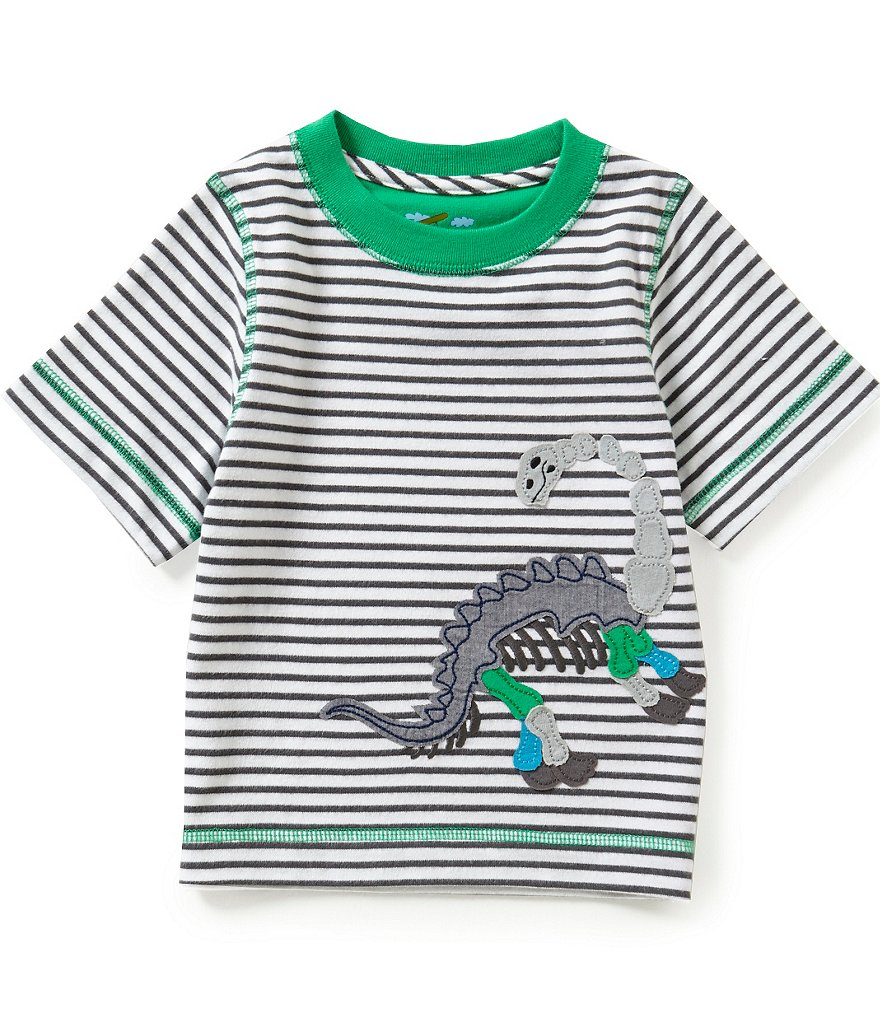 Adventure Wear by Class Club Little Boys 2T-5 Striped Skeleton Dino Tee