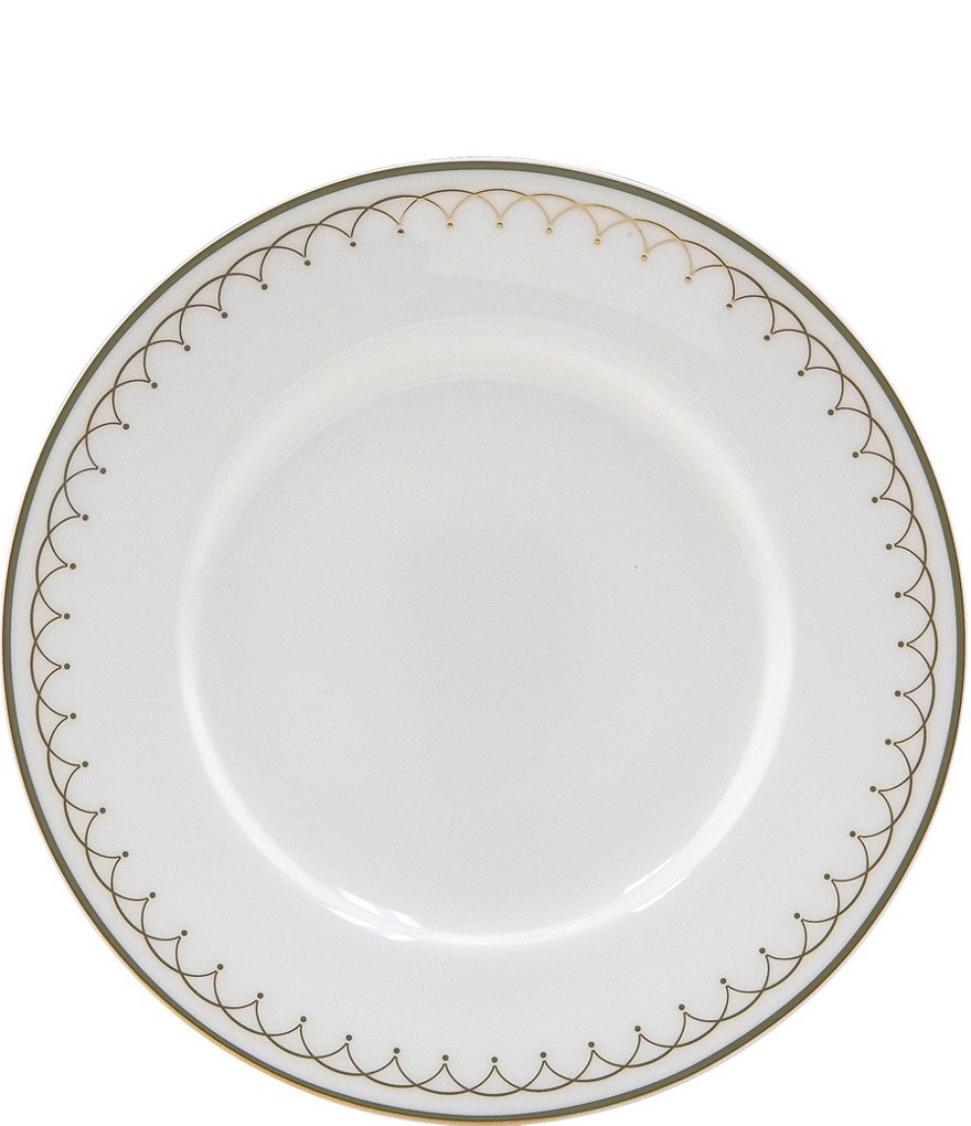 Nikko Lattice Gold Scalloped Bone China Bread & Butter Plate