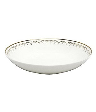 Nikko Lattice Gold Scalloped Bone China Bowl