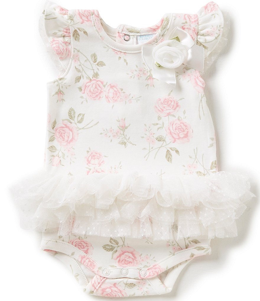 Starting Out Treasures Baby Girls Newborn-6 Months Floral Romper